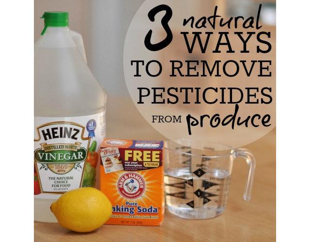 wash off pesticides