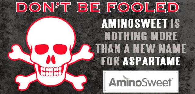 aspartame rebranded to aminosweet