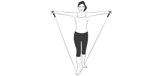 resistance band v move stretch