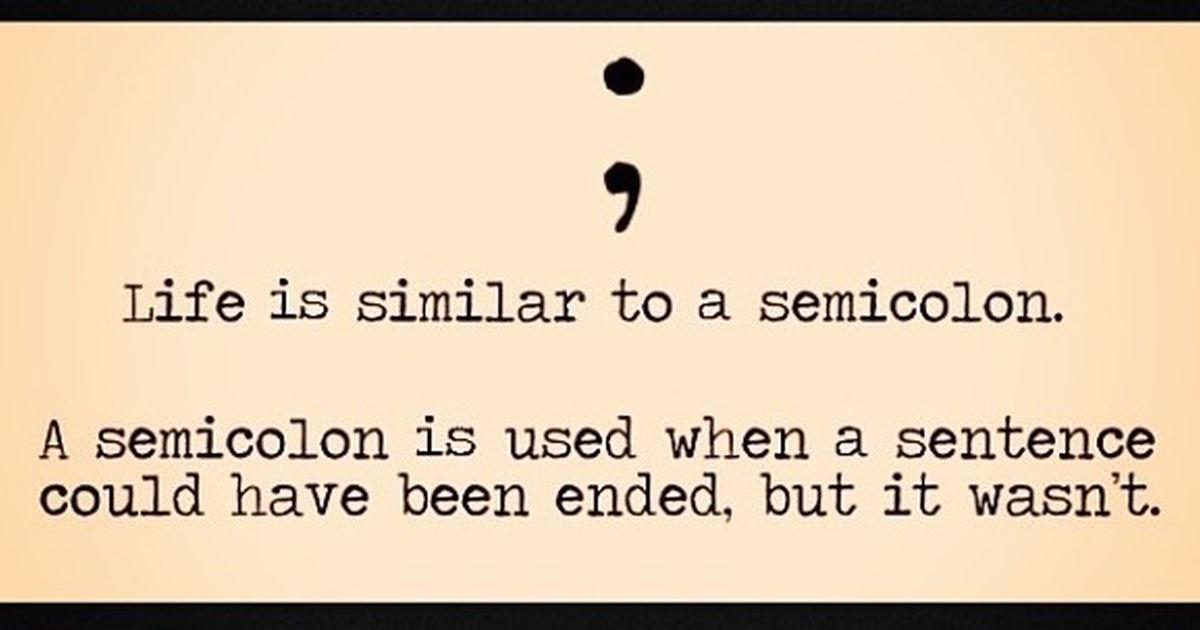 Semicolon Tattoo Raises Awareness About Mental Illness