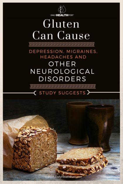 gluten can cause depression, migraines, headaches and othergluten can cause depression migraines headaches